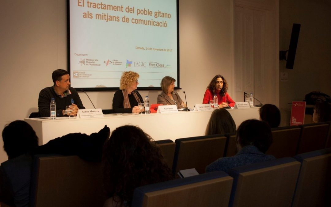 La Fundació Privada Pere Closa participa en el debat sobre el tractament periodístic de la qüestió gitana – 14/11/17