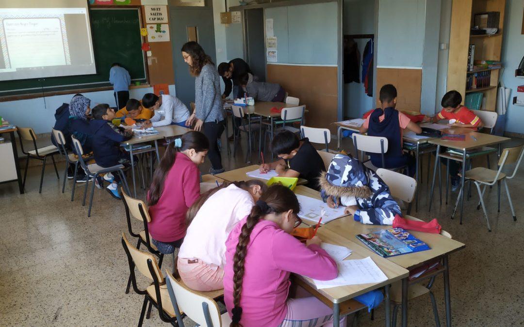 La Fundació Privada Pere Closa amplia el seu servei al curs de 4t de Primària dins el Projecte Acompanyament Lectoescriptor al centre educatiu Lestonnac del barri badaloní de Sant Roc – 01/11/19